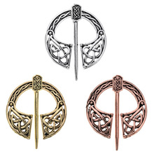 Medieval Viking Norse Brooch Hollow Out Cloak Silk Shawl Scarf enamel pin brooches for women Men Accessories Lapel Pin Broche