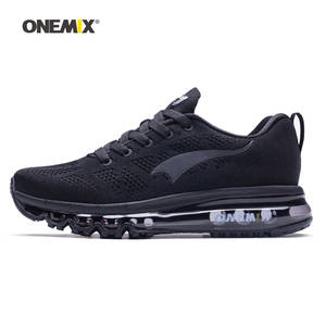 a9e0cfdc5546 ONEMIX Men Running Shoes For Women Black Sports Air Cushion Outdoor Jogging  Walking