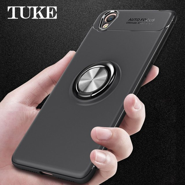 save off d6832 a0d7e US $3.78 |TUKE Luxury Case for OPPO A37 360 Rotation Degree Magnetic Metal  Finger Ring Back Cover for OPPO A37f Phone Casing-in Fitted Cases from ...