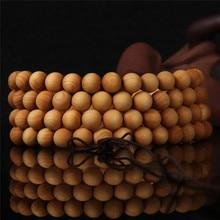 6 8 мм 108 венге деревянные молитвенные бусины тибетский буддийский браслет Будды для женщин мужчин браслет ювелирные изделия
