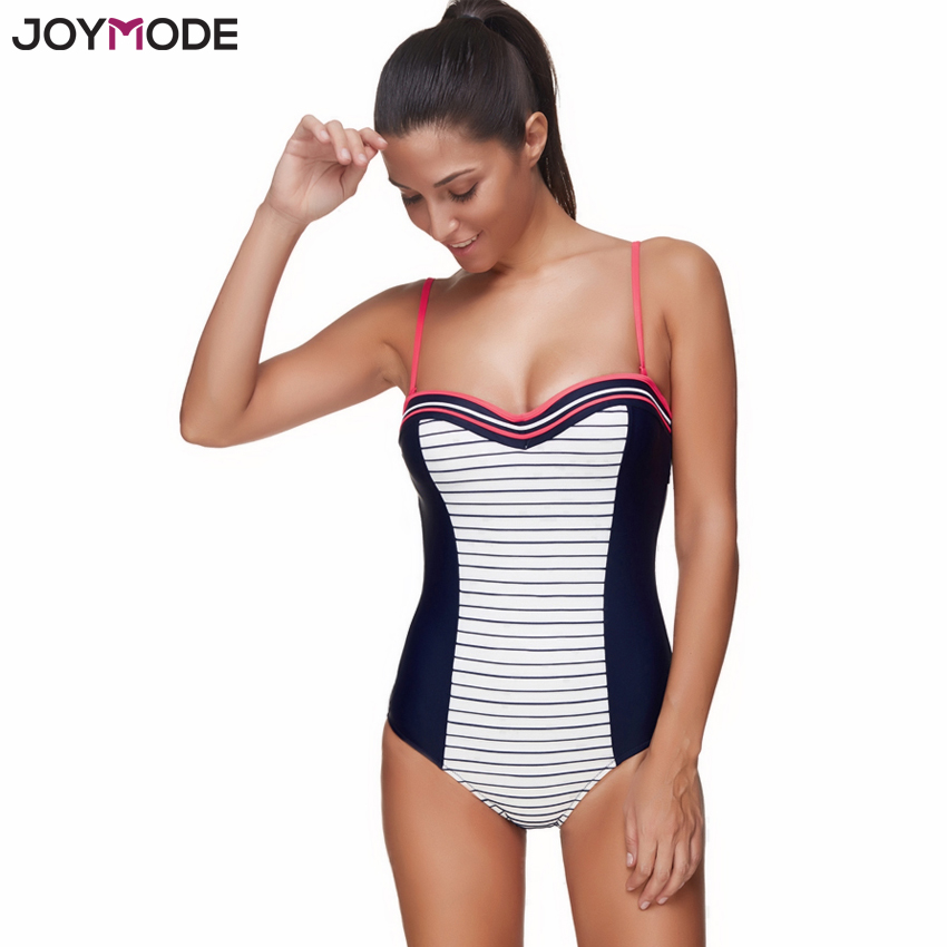joymode swimwear women 2017 one piece patchwork printed swimsuit women push up padded maillot de. Black Bedroom Furniture Sets. Home Design Ideas