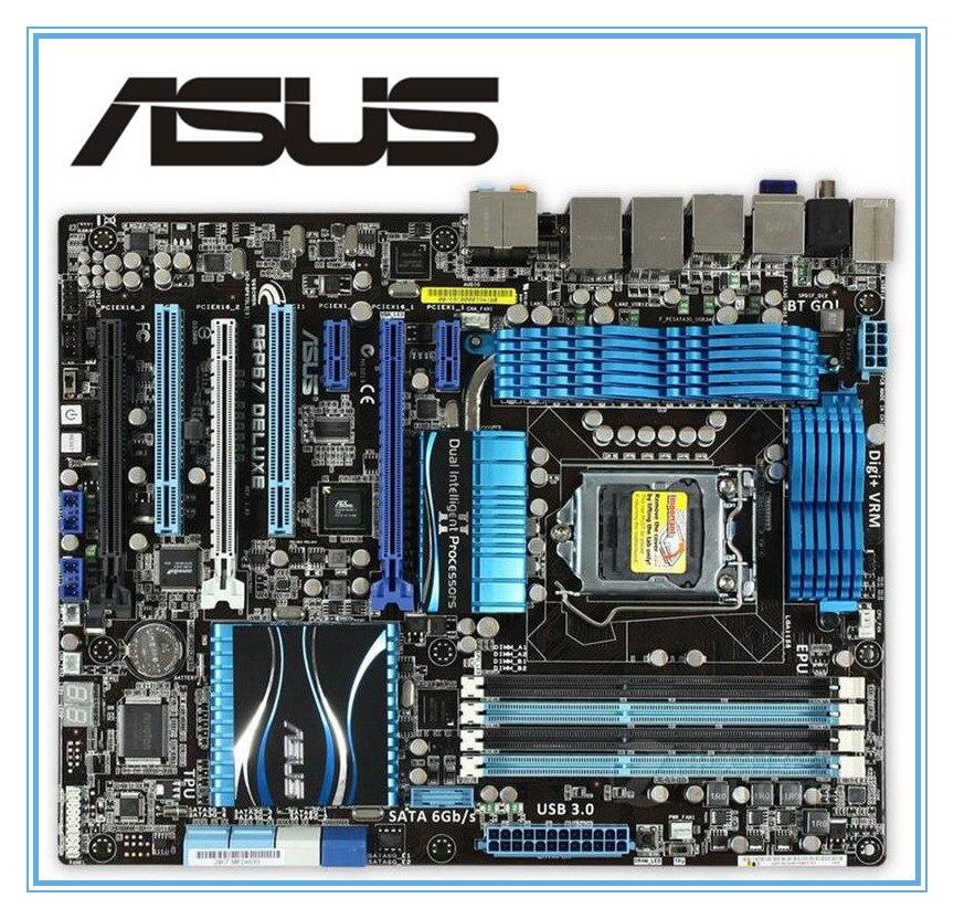 original motherboard ASUS P8P67 Deluxe DDR3 LGA 1155 for I3 I5 I7 32nm CPU 32GB USB3.0 SATA3 P67 Desktop motherboard asus p8p67 desktop motherboard p67 socket lga 1155 i3 i5 i7 ddr3 32g sata3 usb3 0 atx