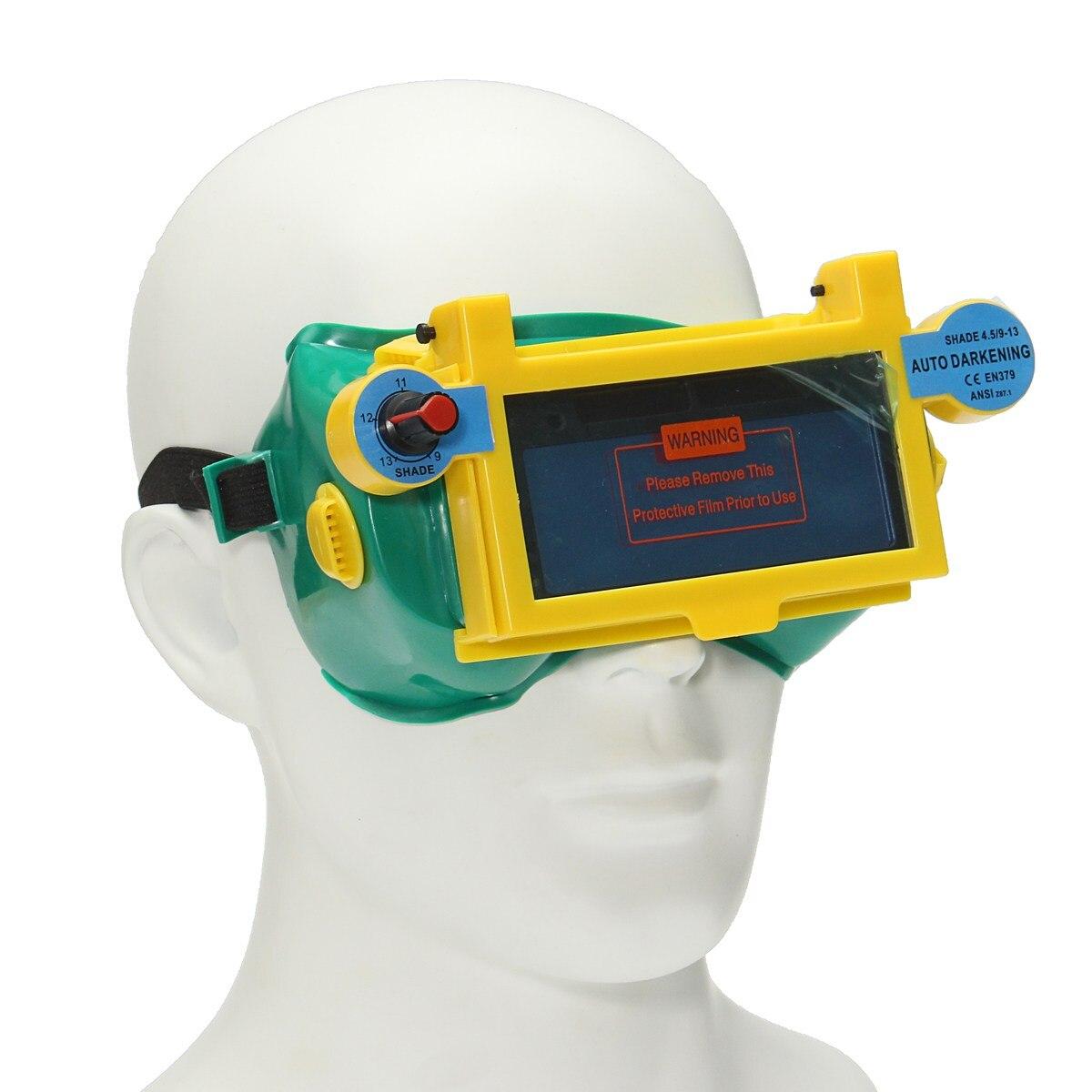 Nueva seguro luz variable automática máscara protectora oscurecimiento gafas soldador Gafas lugar Seguridad protección ocular