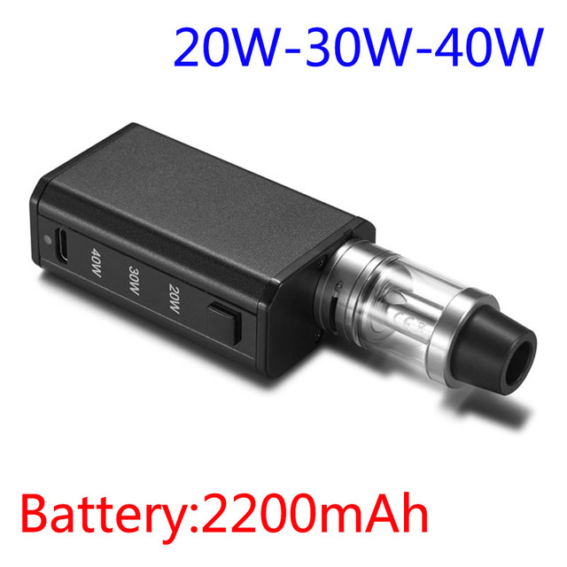 Kits de Cigarrillos electrónicos mod Vaporizador Hookah Ajustable 20 W 30 W 40 W Batería 2200 mAh Vape Atomizador 2 ml Shisha Pen E Cigarrillos