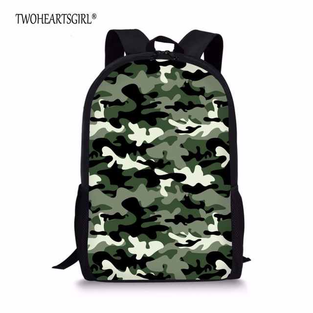 ce79745d01f4 TWOHEARTSGIRL Cool Camouflage Teenager Boys Backpack Children Kids Knapsack  with Mesh Pocket School Child Back Packs Harness