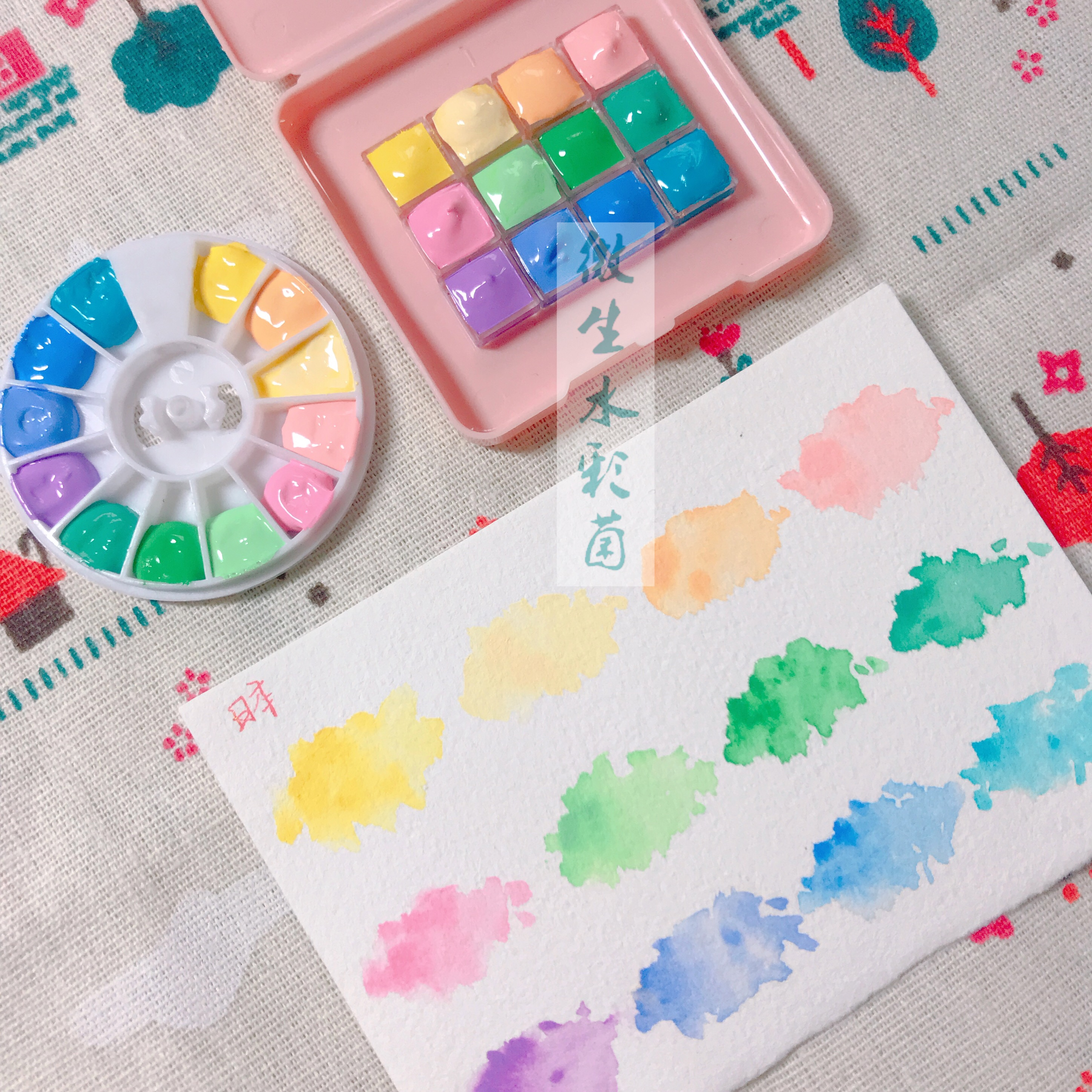 Japanese Holbein Ldefeated Watercolor Macarons Color Acuarelas Optional 12 Colors Water Color With Turquoise Color Art Supplies