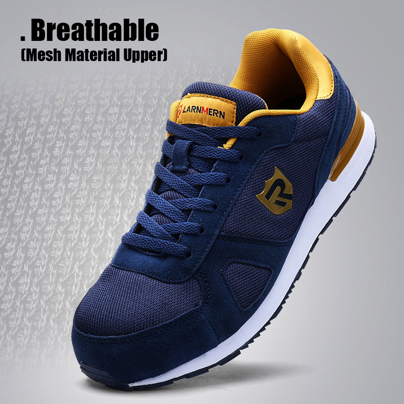 Back To Search Resultsshoes Larnmern Mens Steel Toe Work Safety Shoes Lightweight Breathable Anti-smashing Non-slip Reflective Casual Sneaker