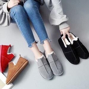 Image 3 - Зимние женские ботинки SWYIVY, женские плюшевые бархатные меховые теплые зимние ботинки, женские теплые короткие зимние ботинки