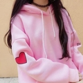 New Arrival Japanese Cotton Hoodies Female Loving Loosely Easy Matching Hooded Thicking For Young Girls In Pretty Style