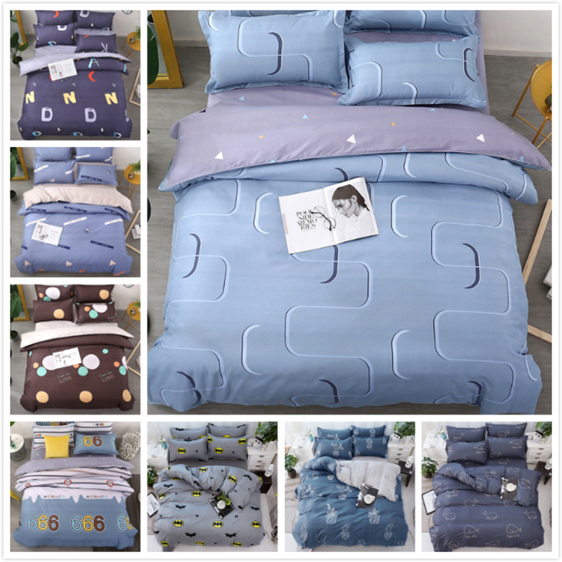 Solid AB Side Grey Duvet Cover 3/4 pcs Bedding Set New Creative Quilt Comforter Case With Pillowcase Single Queen King Size 2.2m