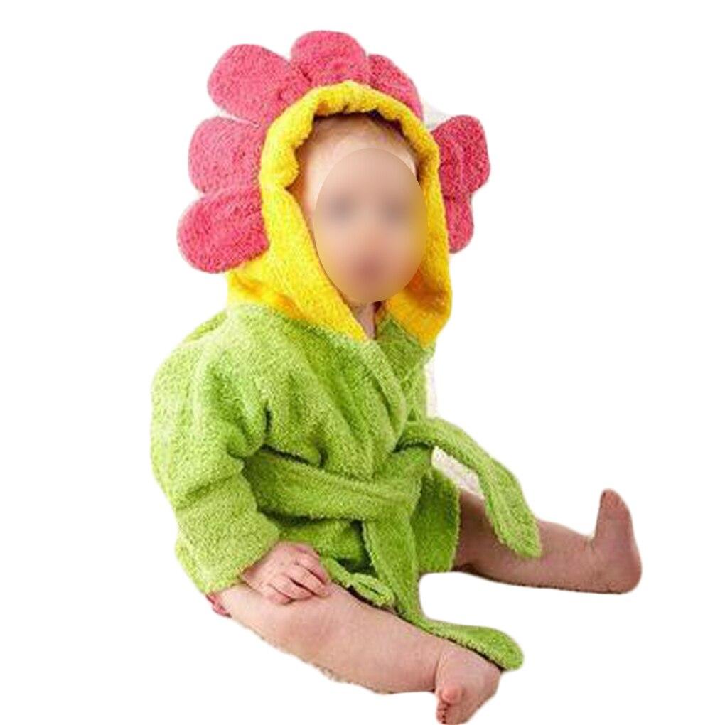 Autumn Winter Warm Baby Bath Animal Shape Cartoon Hooded Bath Babies Kids Hooded Bathrobe Toddler Baby Bath Baby dressing gown