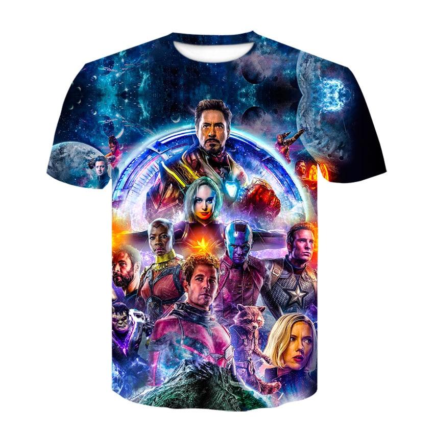 2019 marvel 3d vingador 4 comprimido curto-de mangas compridas camisetas novas camisetas da moda para homens e mulheres, verão impresso t-shirts para m