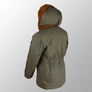 "Image 2 - Repro צבא ארה""ב B 11 חורף Parka מדים ירוק Vtg Mens ארוך כותנה מעיל"