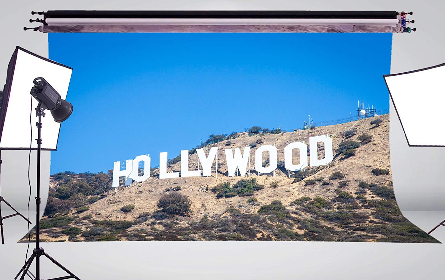 Image 3 - 7x5ft Classic Hollywood Base Photography Background landscape Backdrop Photo Studio Holiday background-in Photo Studio Accessories from Consumer Electronics