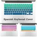 ЕС ВЕЛИКОБРИТАНИЯ Испанский Постепенное изменение цвета силиконовая клавиатура крышка для macbook air 13 беспроводная клавиатура pro 15 retina 17 дюймов протектор