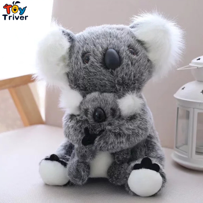1pc Kawaii Australia Koala Koalas Plush Toy Triver Stuffed Animals Doll Mom Baby Baby Kids Infant Toys Birthday Gift Home Decor