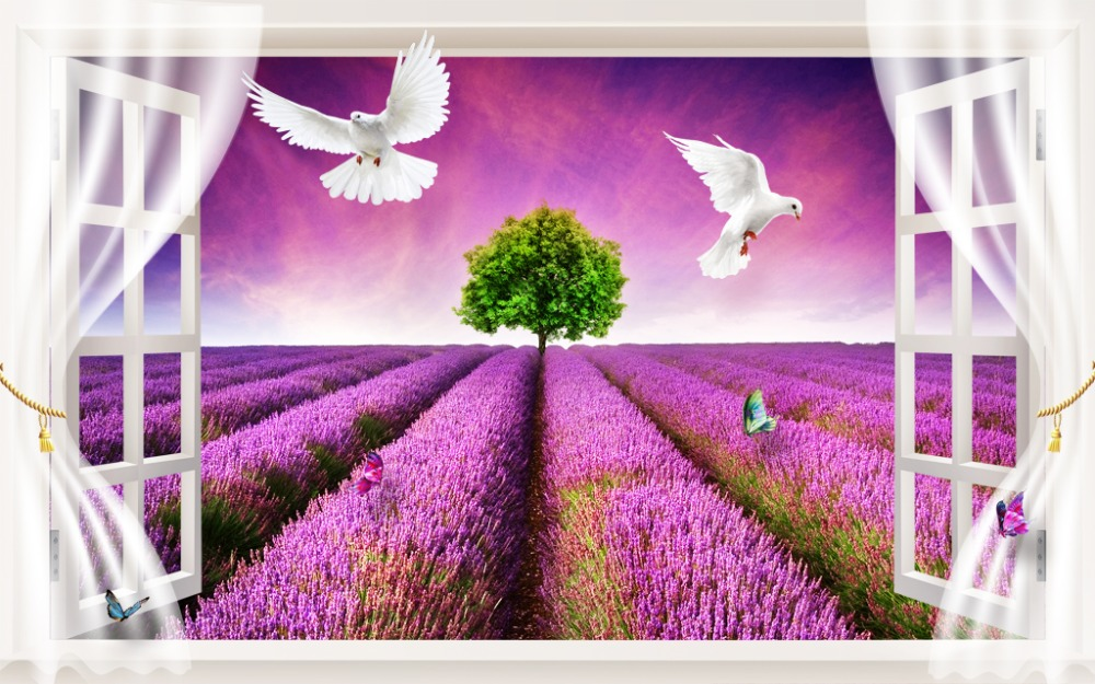 Custom High Quality Farmhouse style Plants are white pigeons ...