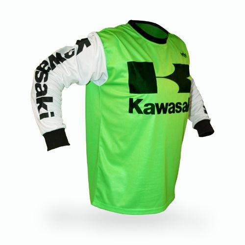 <font><b>New</b></font> <font><b>For</b></font> <font><b>Kawasaki</b></font> <font><b>Motocross</b></font> <font><b>Jersey</b></font> <font><b>MX</b></font> <font><b>Jersey</b></font> <font><b>Shirt</b></font> Off Road Breathable Light Quick Dry Motorcycle Riding Team Riding <font><b>Jersey</b></font> 1
