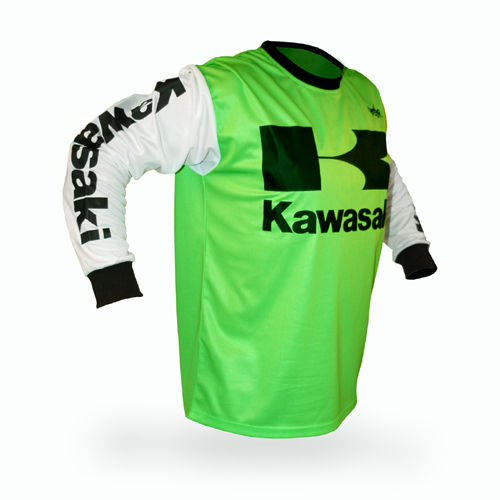 New For Kawasaki Motocross Jersey MX Jersey Shirt Off Road Breathable Light Quick Dry Motorcycle Riding