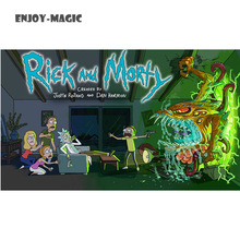 Home Wall Decoration Retro Poster Rick and Morty Adult Swim Cartoons Space Animation Planet 100X154 Cm