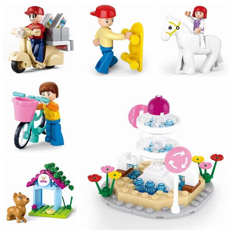 Legoing Blocks City Friends listonosz deskorolka Pet Horse Trainning klocki budowlane dla dzieci montaż City Friends Block