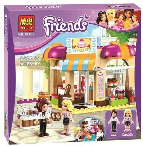Новый BELA 10165 сборка строительных блоков 252 P подруг серии город кондитерской игрушки кирпичи подарок совместимость с LEGOE i41006