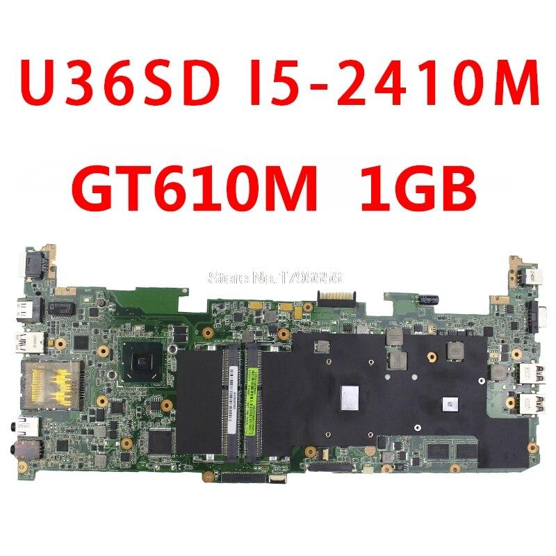 все цены на 90 days warranty! laptop U36SD motherboard REV 2.1 with i5 SR041 Cpu fit for Asus U36SG U44SG main board s-2 онлайн
