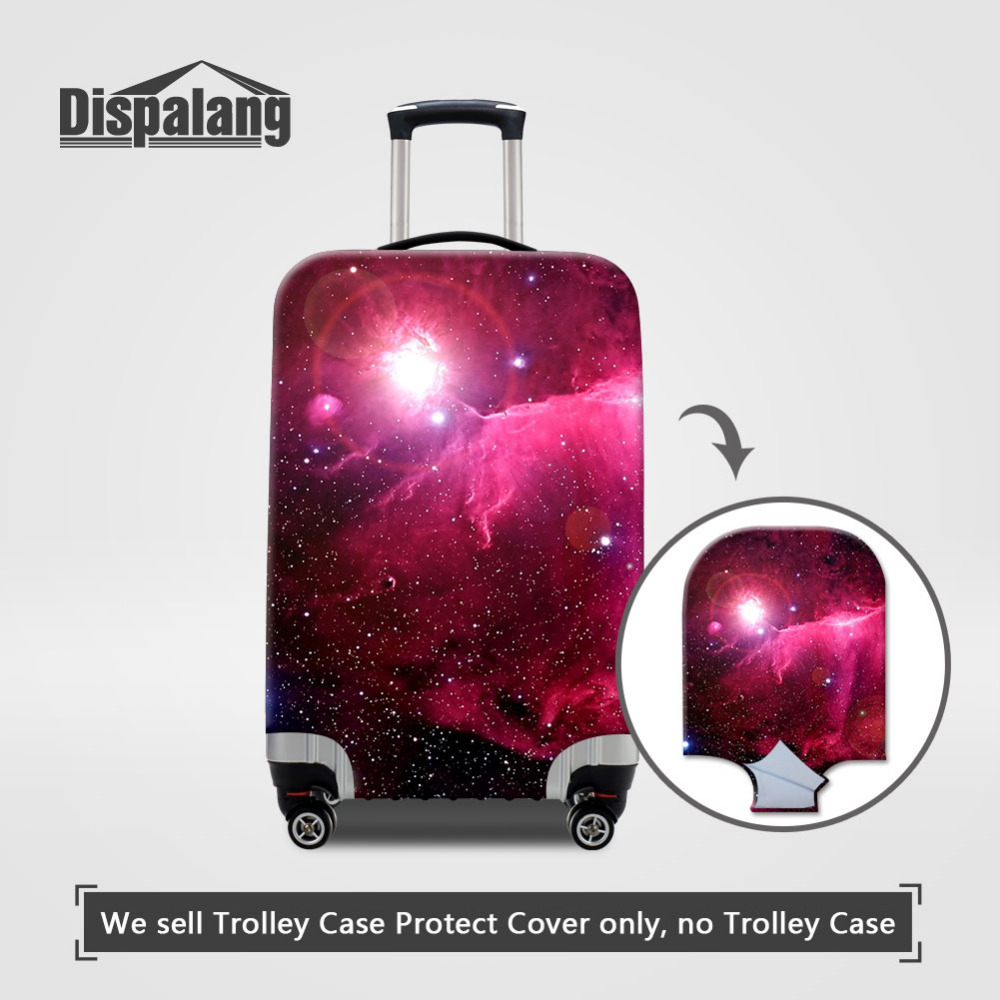 Dispalang Christmas Gift Galaxy Star Travel Luggage Protective Dust Cover Elastic Suitcase Cover Suit 18-30 Inch Case Cover ...