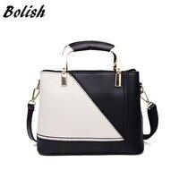 Bolish Women Sweet Shoulder Bag Lady Casual Handbag Simplicity Contrast Color Messager Bag Socialite Fashion Crossbody