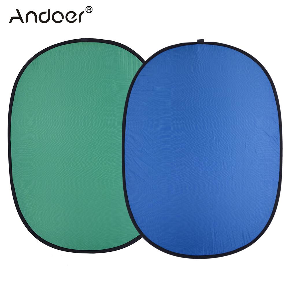 Prix pour Andoer 1.5*2.0 m Réflecteur Pliable En Nylon Bleu et Vert (2in1) Toile de Fond Fond Panneau pour Photo et vidéo Studio Photographie