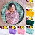 Photo Studio mantas de bebé de la alta calidad manta de piel sintética cesta embutidora de Mongolia piel de las fotos atrezzo recién nacido accesorios de fotografía