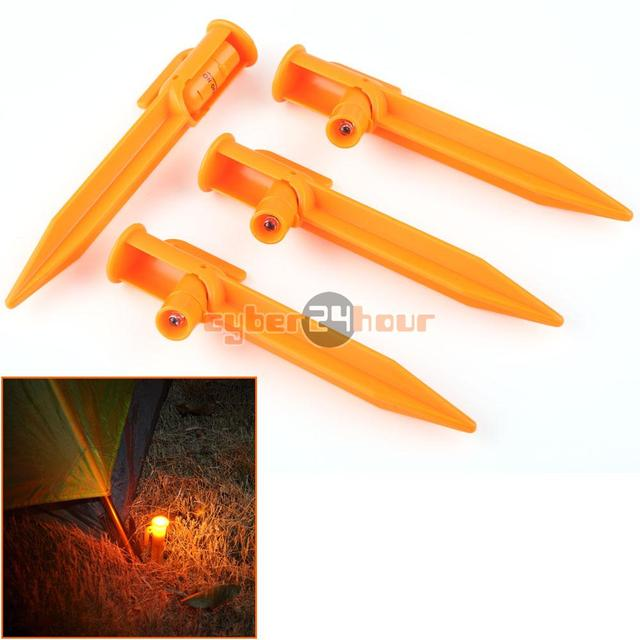 High Quality 4pcs Lot LED Light Up Tent Pegs Stake Illuminated C&ing Trip Survival Night Lights  sc 1 st  AliExpress.com & High Quality 4pcs Lot LED Light Up Tent Pegs Stake Illuminated ...