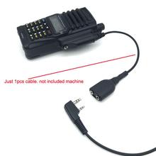 2Pin K Разъем для наушников аудио кабель адаптер патч-корд для Baofeng BF-9700 A-58 UV-XR UV-5S GT-3WP UV-9R плюс иди и болтай Walkie Talkie