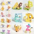 Творческий Мультфильм Животных Дизайн Алфавитов Головоломки 26 Набор Письмо ~ Z 3D DIY Образовательных Раннего ABC Английский Обучающие Игрушки для Детей