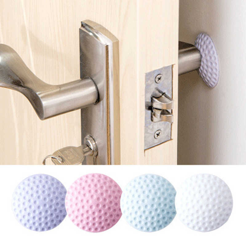 Wholesale Wall Thickening Mute Door Stickers Wall Decals Rubber Fender Handle Door Lock Protective Pad Protection Wall Decor