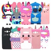 For Samsung J5 Case Cover Silicone Galaxy 2015 J500F J5008 Cute 3D Cartoon Cats Rabbit Unicorn Phone Cases