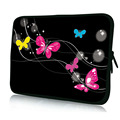 "Butterfly 10"" Laptop Bag Carry Notebook Sleeve Tablet  Case Pouch Protector For 10.1"" Samsung Galaxy Tab/Apple iPad 4 3 2 1"