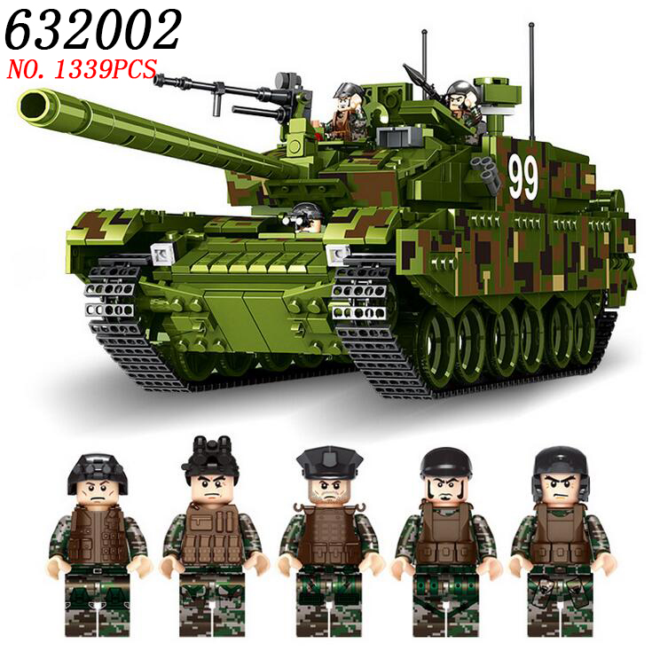 AIBOULL PLS Military 632002 1339pcs TYPE 99 Main Battle Tank Building Blocks Bricks enlighten toys for children Compatible LEPIG 128pcs military field legion army tank educational bricks kids building blocks toys for boys children enlighten gift k2680 23030