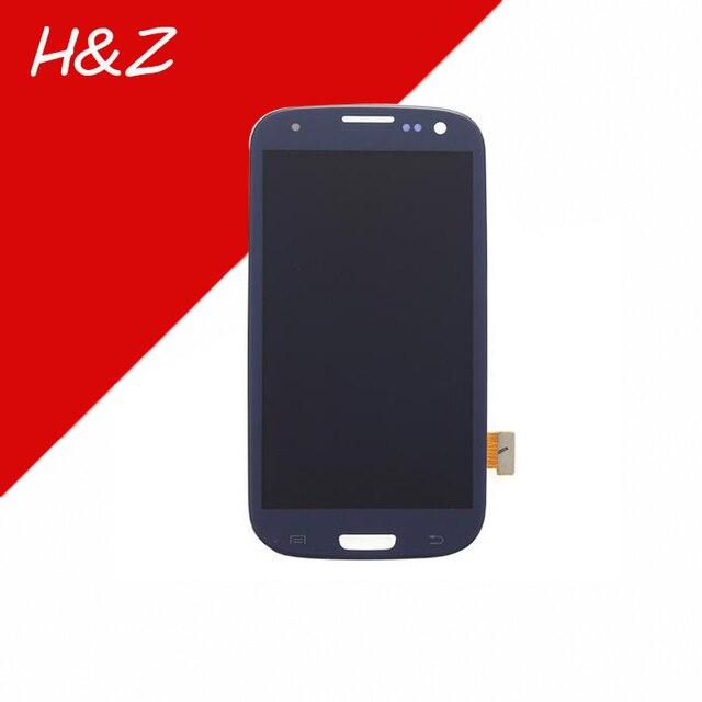 Para samsung galaxy s3 i9300 i9305 i535 t999 i747 lcd full display + touch screen asamblea digitalizador reparación de parte de reemplazo (azul)