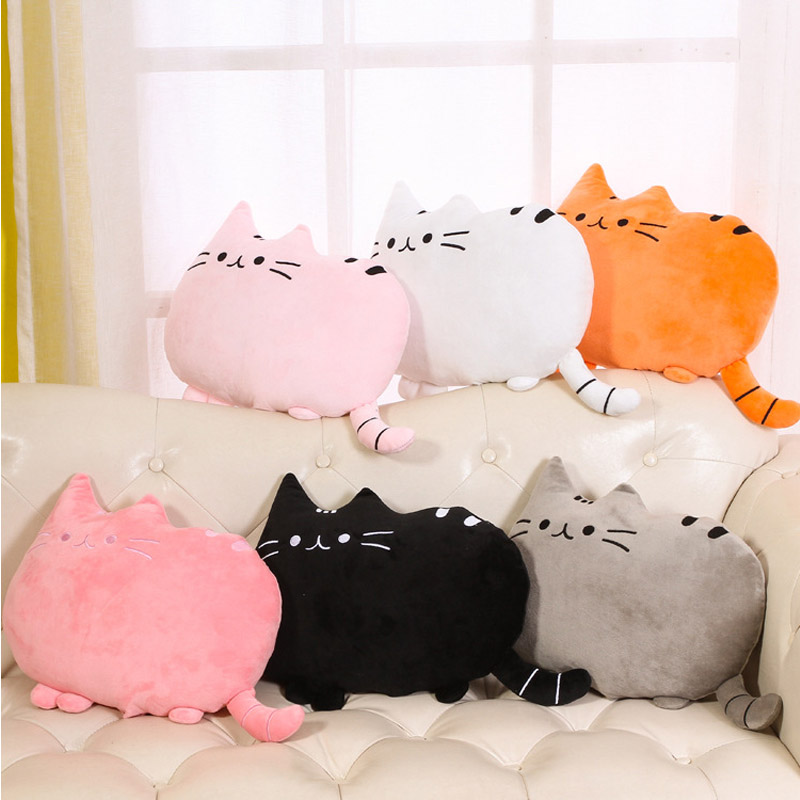 Cute Creative Cushion Biscuits Cat Pillow Meow Cotton Pp