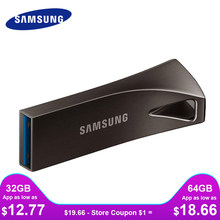 SAMSUNG USB Flash Drive Disk 32G 64G 128G USB 3.0 USB 3.1 Metal Mini Pen Drive Pendrive Memory Stick Storage Device U Disk(China)