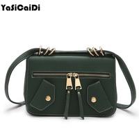 YASICAIDI Fashion PU Leather Women Handbags Clothing Shoulder Bags Luxury Designer Jacket Tote High Quality Women