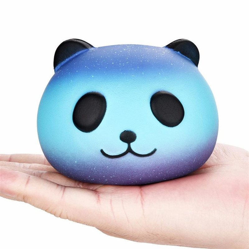 Galaxy/Starry Cute 10cm Panda Baby Cream Scented Squishy Slow Rising Squeeze Kids Toy Novelty Funny Gadgets Anti Stress Toys,M40