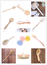Body Brush Natural Bristles Body Brush Scrubber Long Handle Wooden Spa Shower Brush Bath Massage Brushes Multi Style Hot vehhe body brush spa banya massage scrubber bathroom accessory long handle shower brush bath skin massage brushes exfoliate