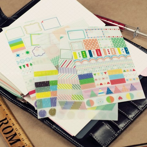 Rainbow Market Korea Sticker For Calendar Events,Scrapbooking,Diary Decoration Stickers Pakistan
