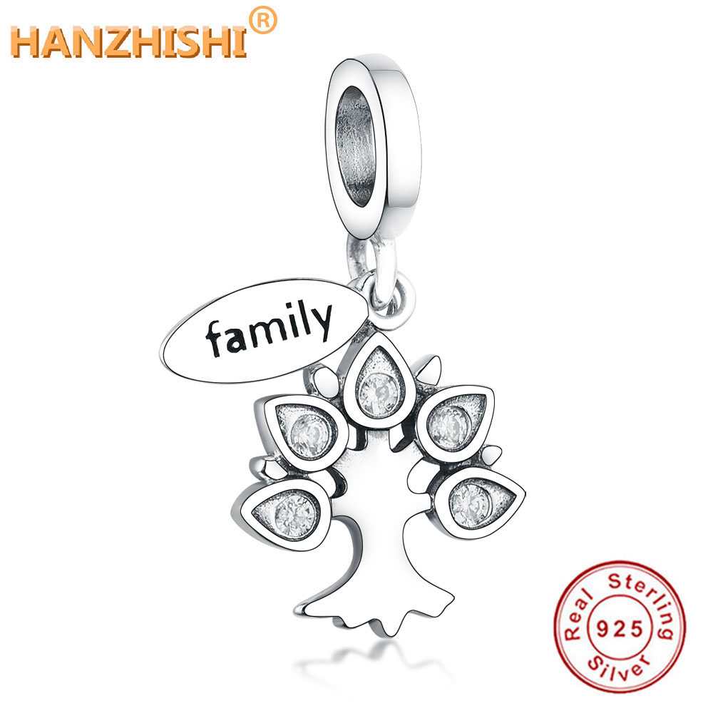 Aliexpress Hot Sale 100% Real 925 Sterling Silver Family Tree Of Life Fit Original Pandora Charm Bracelet Pendant Necklaces Gift