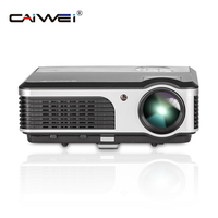 CAIWEI 1080p Home Movie Theater Projector Beamer Multimedia LED Famliy Game Film TV VGA USB Projector 2 Year Warranty