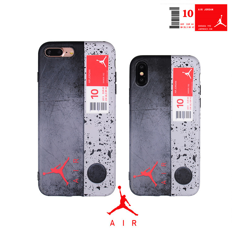 sale retailer 81934 14710 US $2.29 15% OFF|Fashion Trend Sport Style Air Jordan Shoe box case For  iphone X XR XS MAX 8 7 6 6S Plus Delicate matte Soft silicon Phone Cover-in  ...