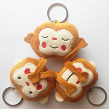 New Emoji Key Chain 3Styles Cute Monkey Stuffed & Plush Chains Phone Keychain Emoticon Ring