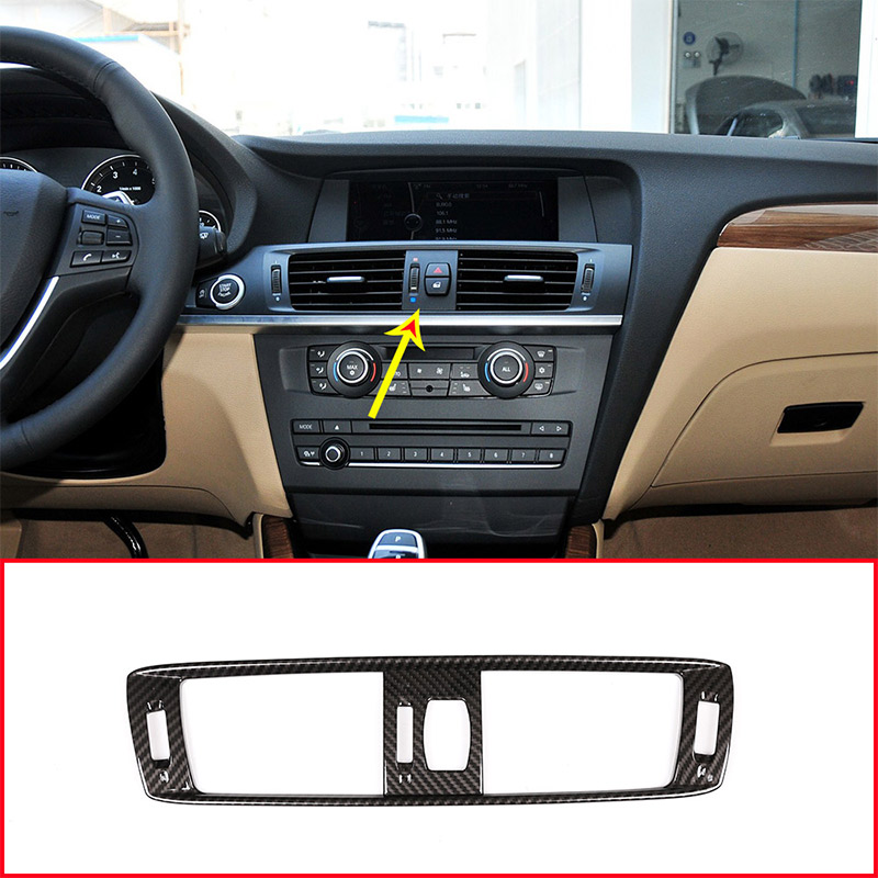 Carbon Fiber Style For BMW X3 F25 2011 2017 ABS Plastic